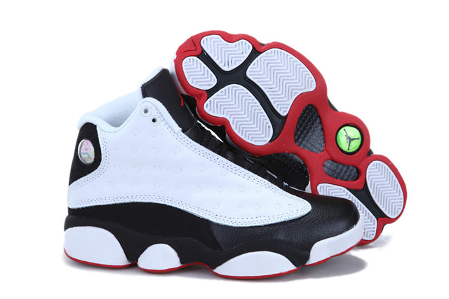 Retro Air Jordan 13 shoes black,white and red are best-selling jordan sneaker